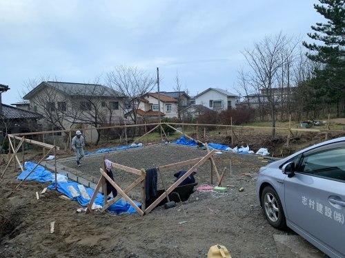 Q1住宅L2本荘:砕石地業、捨てコン_e0054299_16295879.jpg