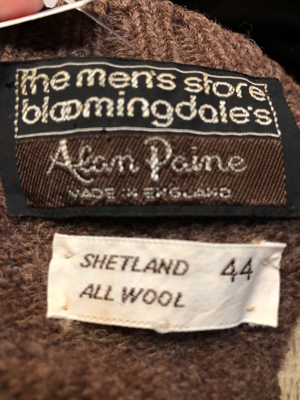 11月14日(土)入荷!BLOOMINGDALE\'S  ALAN PAINE Made in England シェッドランドセーター!_c0144020_13294264.jpg