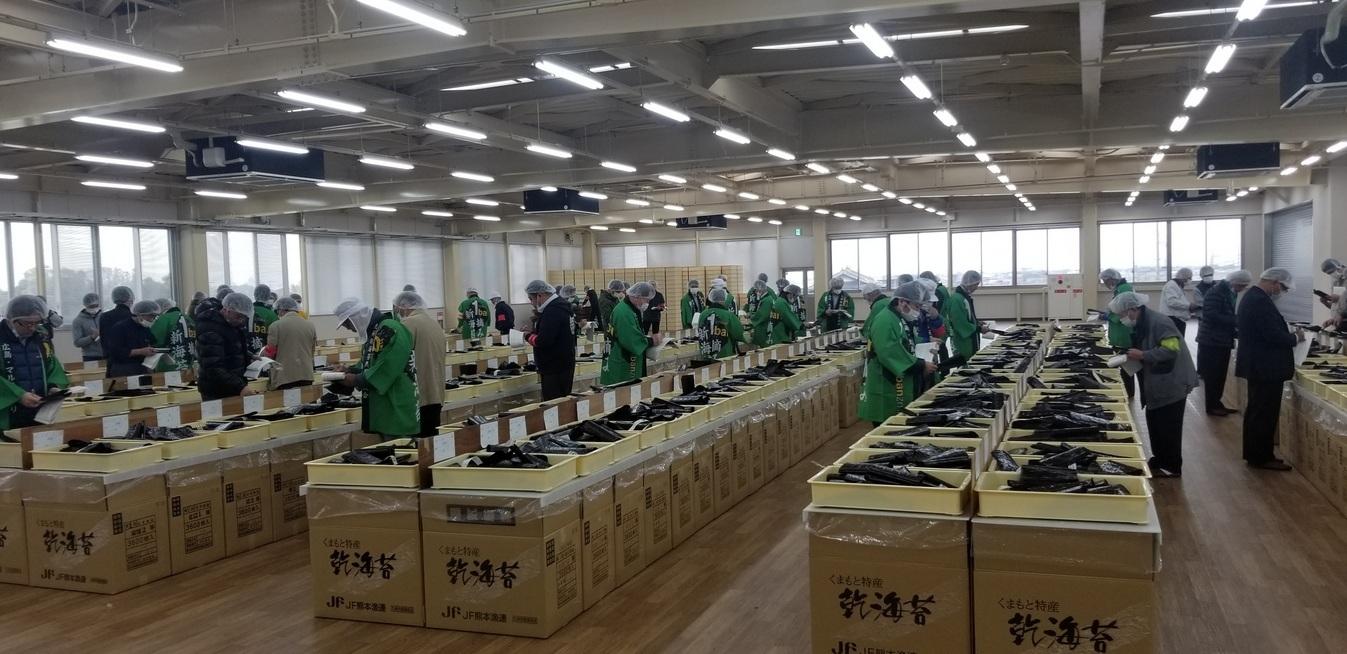 熊本 海苔の初入札_e0184224_09423278.jpg