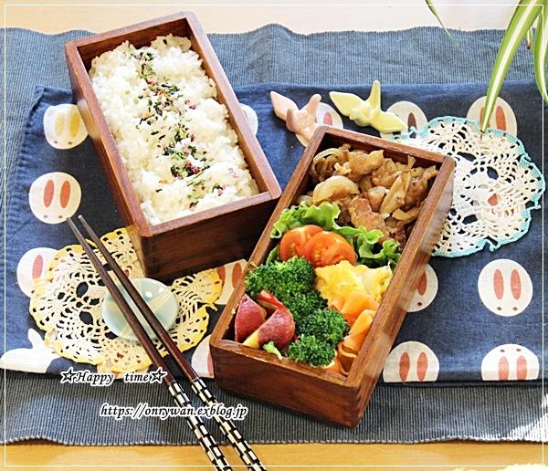 豚の生姜焼き弁当とハムマヨパンとクリスマスネイル♪_f0348032_16375692.jpg