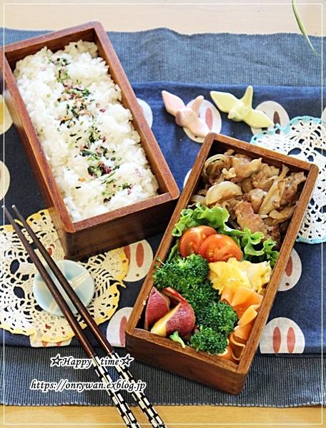 豚の生姜焼き弁当とハムマヨパンとクリスマスネイル♪_f0348032_16380424.jpg