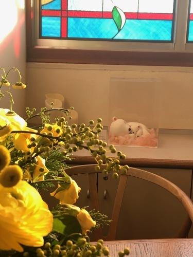 産婦人科病院のディスプレイ 冬ごもり_f0395434_22153711.jpeg