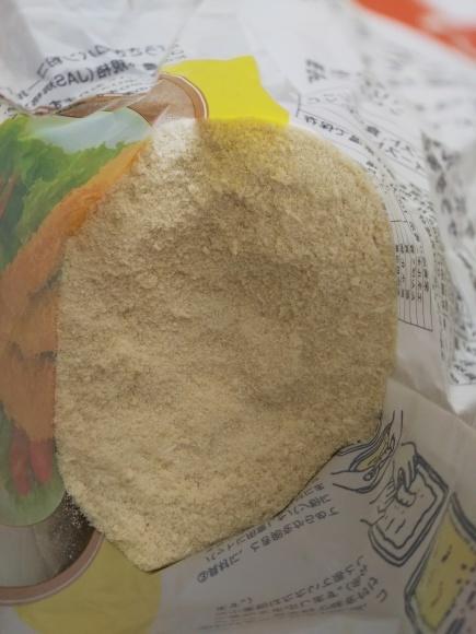 揚げとホーレンソウのお浸しと、パン粉攪拌荒業図(^^;_f0316507_21294828.jpg