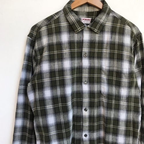 〜Early60\'s Green Check Flannel Box Loop Shirts✨_a0182112_12191450.jpg