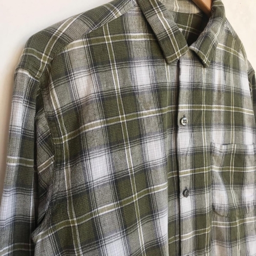 〜Early60\'s Green Check Flannel Box Loop Shirts✨_a0182112_12192388.jpg