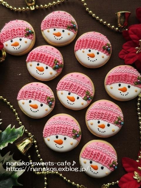 雪だるまアイシングクッキー_d0147030_20580323.jpg