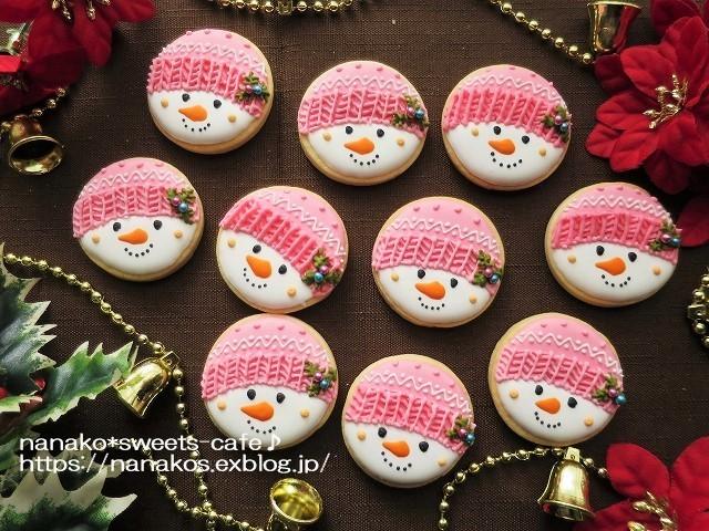 雪だるまアイシングクッキー_d0147030_20581422.jpg