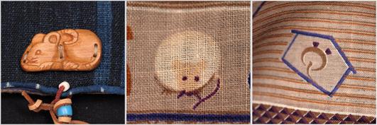福ねずみと縞の大麻布の小物入れ_d0221430_18260600.jpg