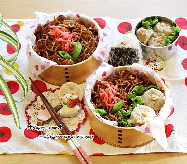 焼きそば弁当と長芋と鶏肉のコロコロ焼き♪_f0348032_17005990.jpg