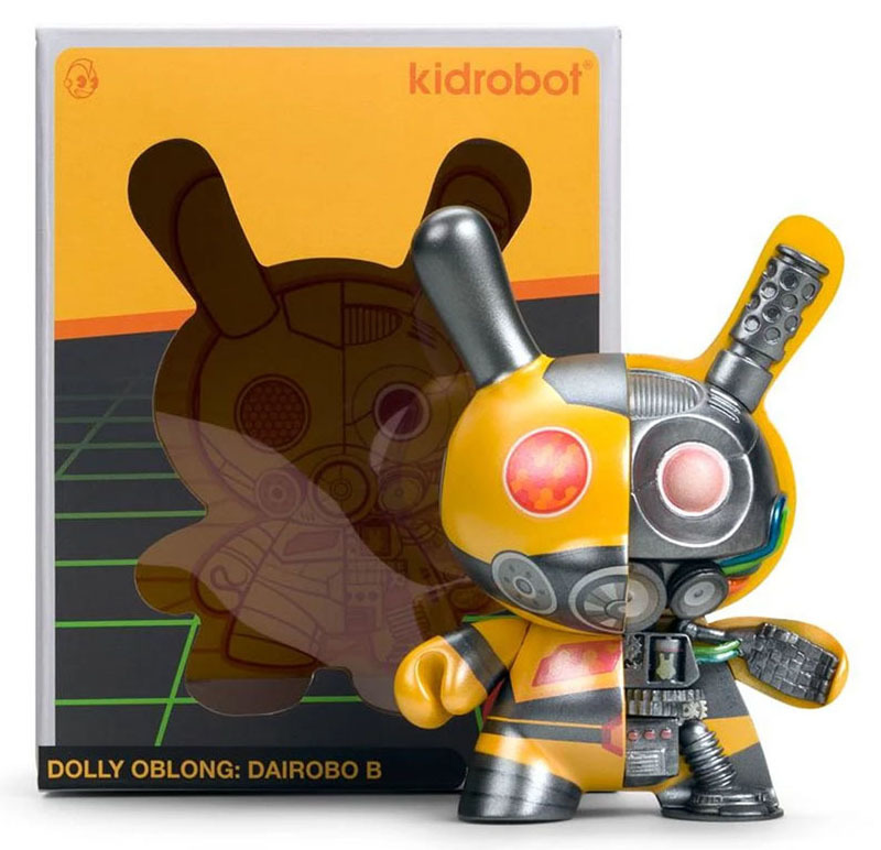 "Dairobo-B Mecha Half Ray 5"" Dunny by Dolly Oblong_e0118156_19251931.jpg"