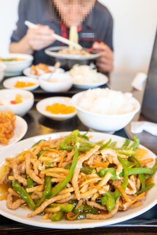 台湾料理 吉源の青椒肉絲定食が、食べきれず・・・(>_<)_a0077663_13271680.jpg