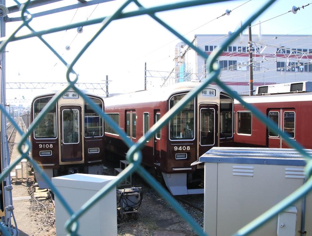阪急正雀みたまま 9000系 9300系 8同士_d0202264_12122532.jpg