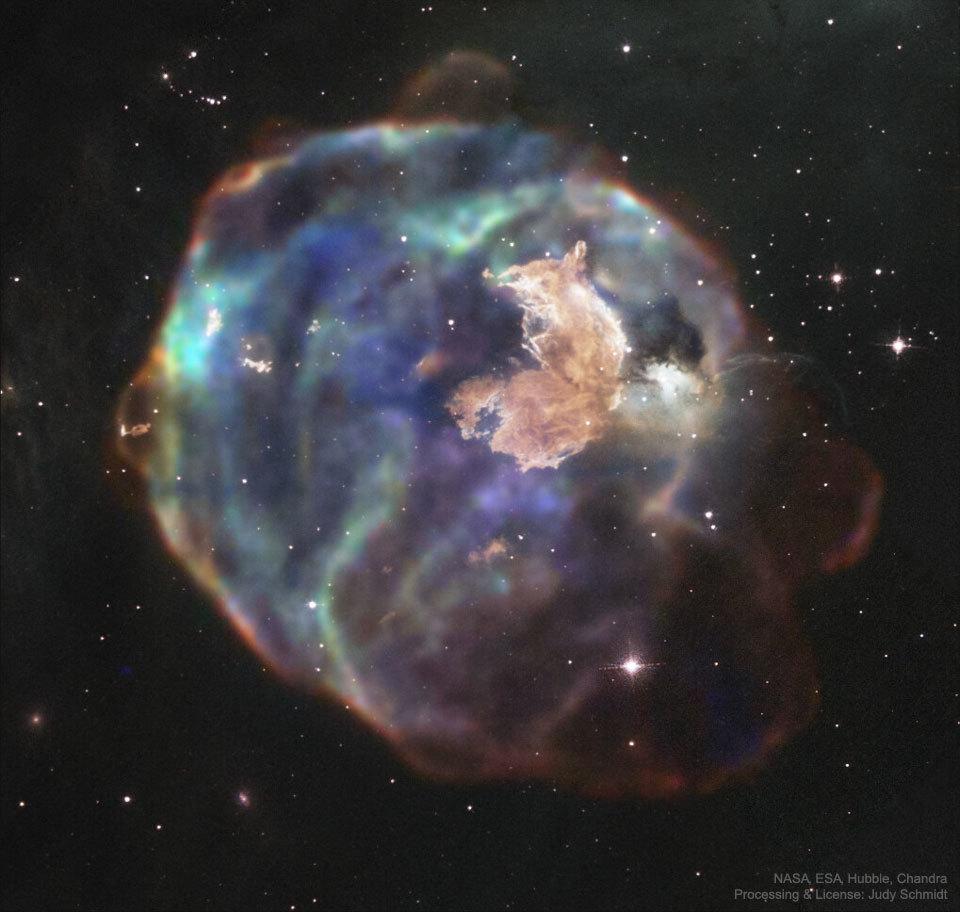 南天のかじき座の超新星残骸N63A_d0063814_17271099.jpg