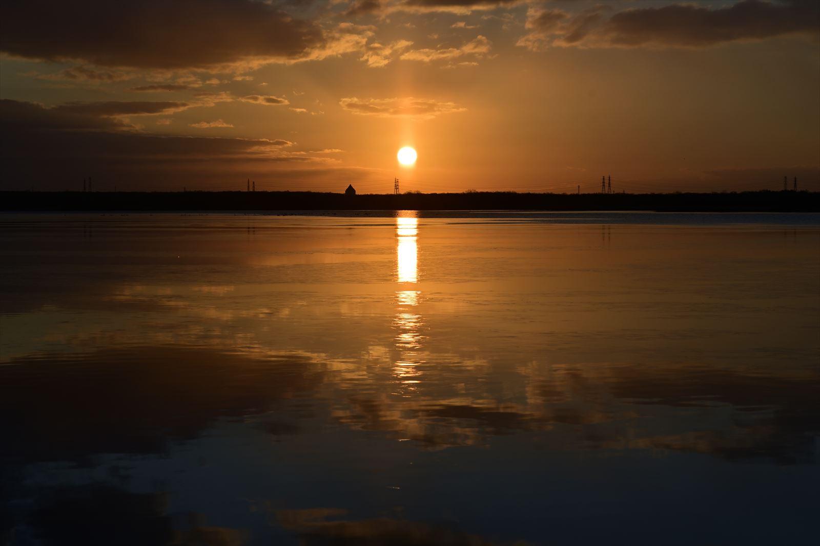 ウトナイ湖の朝日_a0145819_17145792.jpg