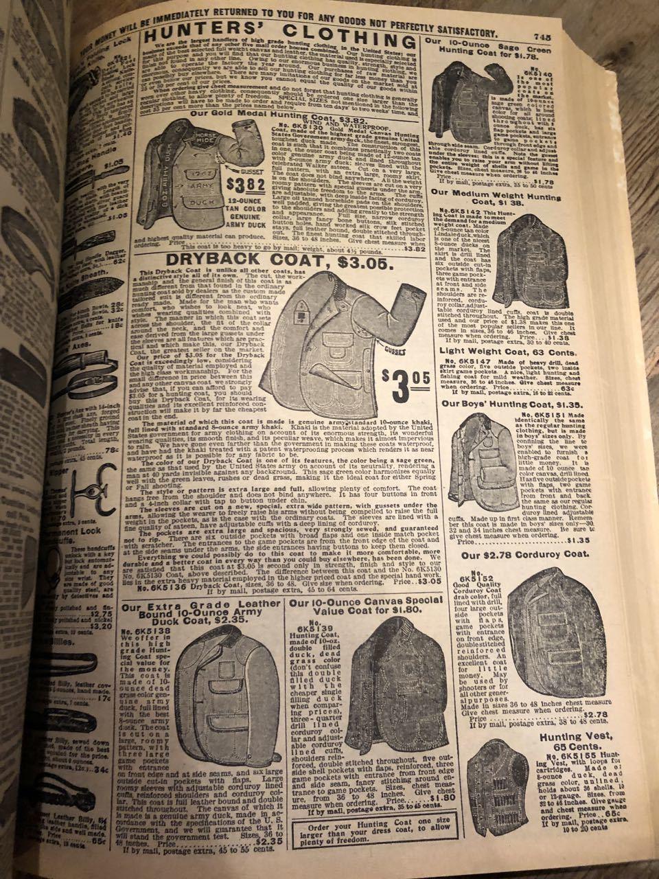 12月15日(日)入荷! 1908年 Sears Catagog シアーズ カタログ!_c0144020_14055475.jpg