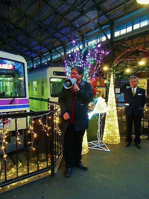 12月14日 レトロな駅舎にて、クリスマスステーションin八瀬_f0227828_08295222.jpg