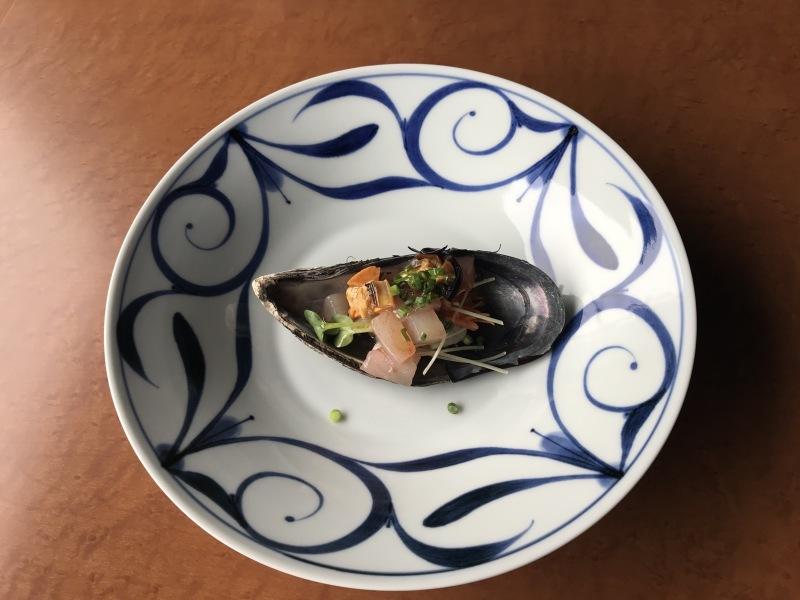 12月の料理「瀬戸貝とハマチのタブレ」_d0177560_22025275.jpeg