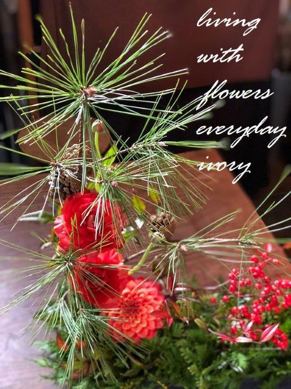 『〜IVORY お正月 花教室12 開催です~♬』_b0094378_20502405.jpeg