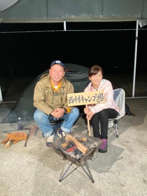 西村キャンプ場にお邪魔しました♪ テレビ新広島_e0319202_14412506.jpg