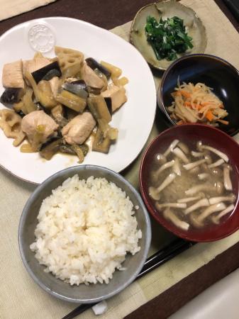 鶏肉とナスのオイスター炒め_d0235108_20124912.jpg