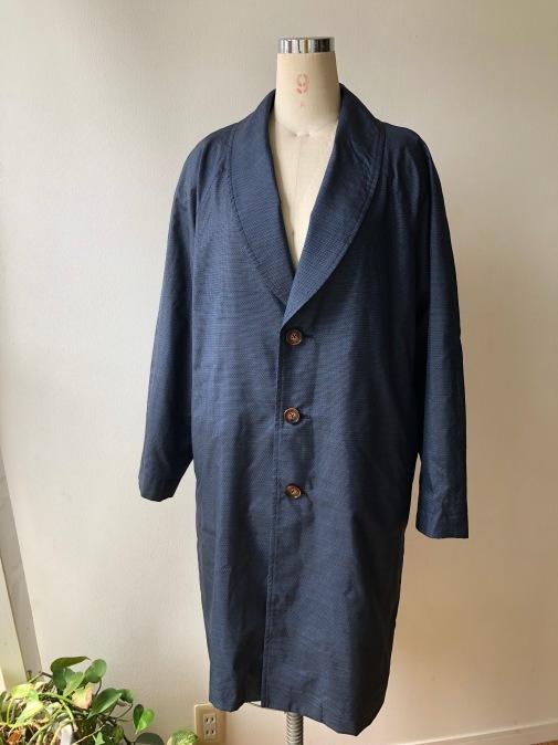 着物着物リメイク・ 大島のお着物から紳士コート_d0127925_09572208.jpg