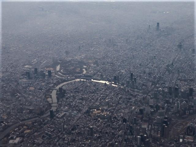 全日空からの絶景、大阪城と雲海、大阪の街が蜃気楼となった・・・・絶景かな大阪の街、ANAからの絶景写真_d0181492_21445309.jpg