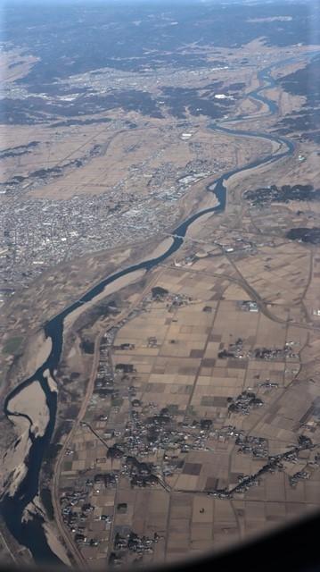 全日空からの絶景、大阪城と雲海、大阪の街が蜃気楼となった・・・・絶景かな大阪の街、ANAからの絶景写真_d0181492_21473097.jpg