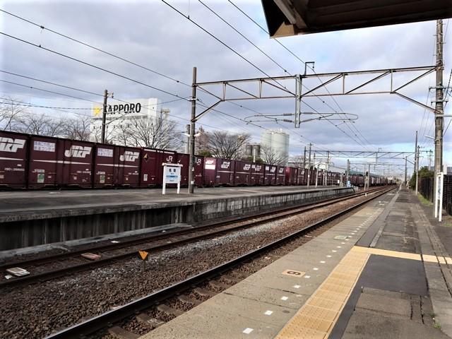藤田八束の鉄道写真@JR名取駅からの写真を撮りました。冬の寒い中貨物列車は走ります。_d0181492_23095217.jpg
