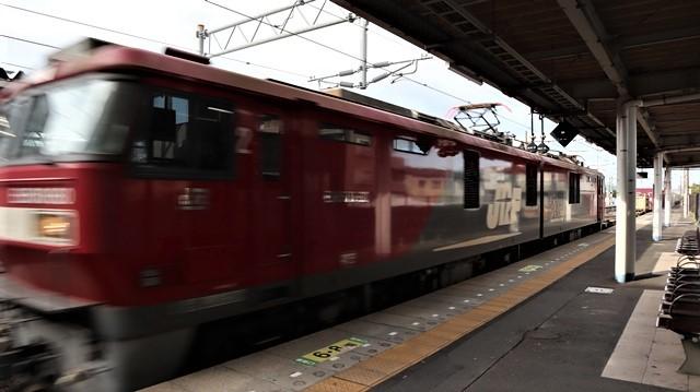 藤田八束の鉄道写真@JR名取駅からの写真を撮りました。冬の寒い中貨物列車は走ります。_d0181492_23104792.jpg