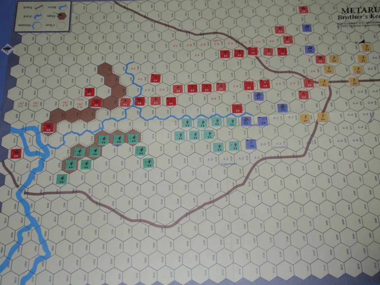 DG「Battles of the Ancient World」シリーズから「Metauras 207B.C.」をソロプレイ②_b0162202_20143319.jpg