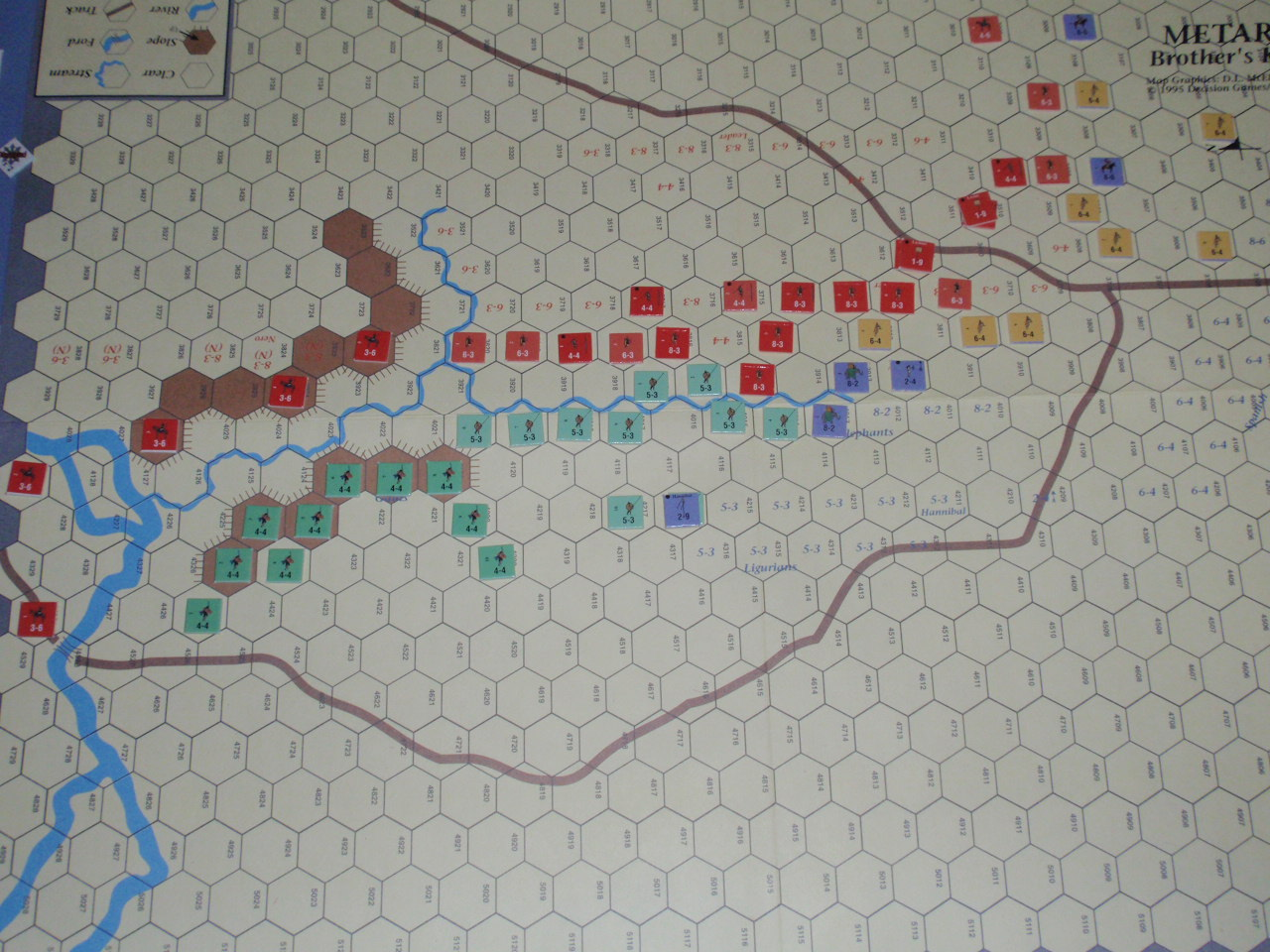DG「Battles of the Ancient World」シリーズから「Metauras 207B.C.」をソロプレイ②_b0162202_20154231.jpg