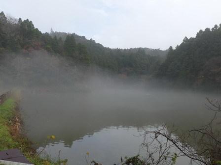 霧の万木堰_a0123836_16584617.jpg