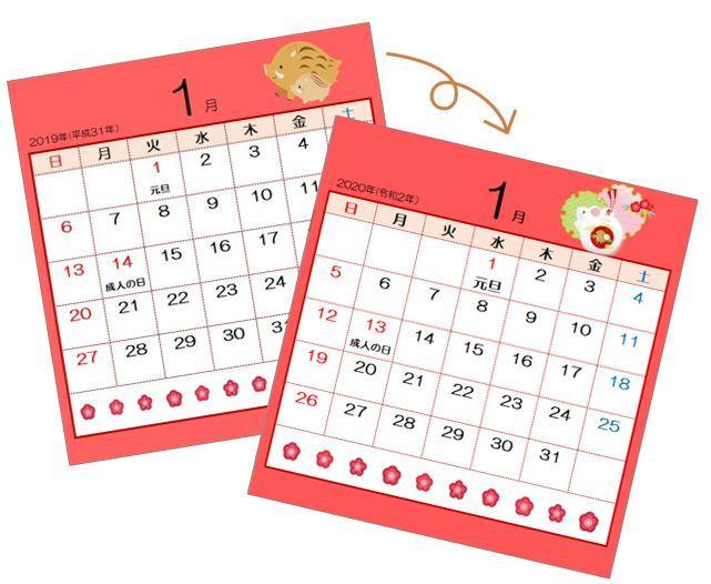 昨年エクセルで作成したカレンダーを来年用に…_b0221643_21524176.jpg