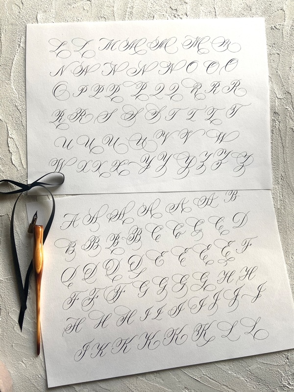 カッパープレートバリエーション☆初めての名刺と私のカリグラフィージャーニー_b0165872_20242149.jpeg