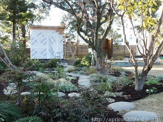 冬の庭しごと ガーデンシェッドの屋根材の取りつけ_c0293787_19473577.jpg