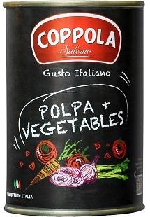 【RSP73】新鮮野菜が入ったフレッシュな完熟トマト缶『コッポラ ポルパ・ピウ』メモス_a0057402_01345142.jpg
