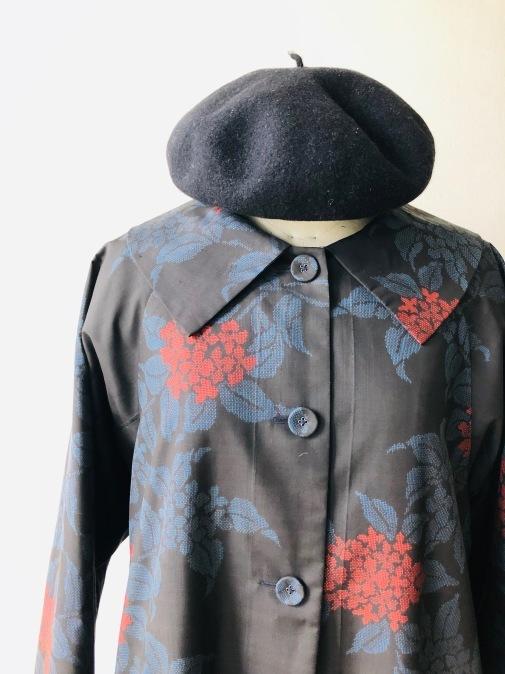 着物着物リメイク・ 大島紬からえりの大きなコート_d0127925_09095252.jpg