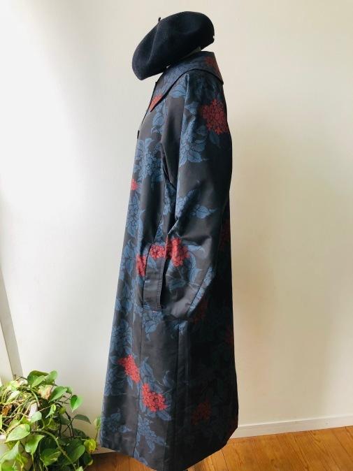 着物着物リメイク・ 大島紬からえりの大きなコート_d0127925_09095951.jpg