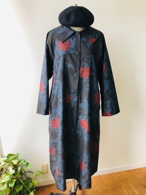 着物着物リメイク・ 大島紬からえりの大きなコート_d0127925_09100403.jpg