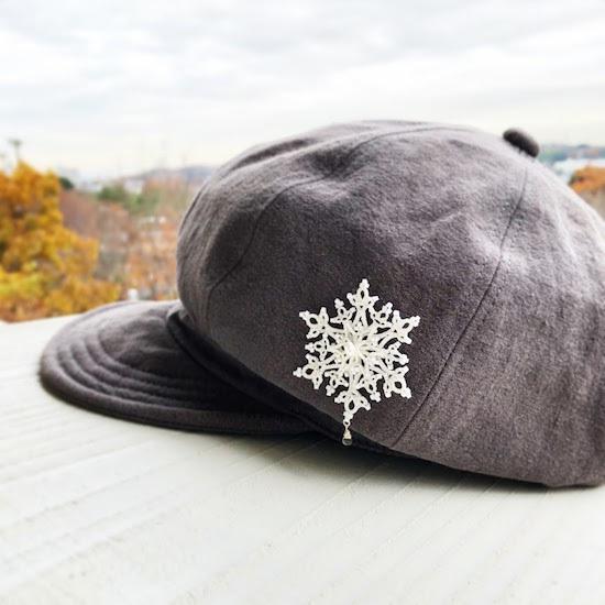 雪の結晶やらブローチやらケーキやら。_f0089355_17202576.jpg