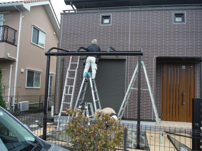 テラス屋根取替 ~ 新しいテラス屋根取付。_d0165368_02504313.jpg