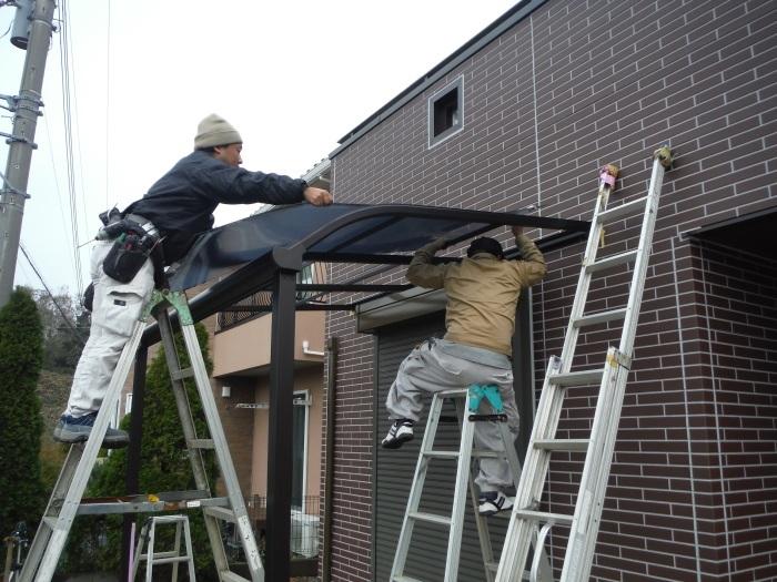 テラス屋根取替 ~ 新しいテラス屋根取付。_d0165368_02505858.jpg