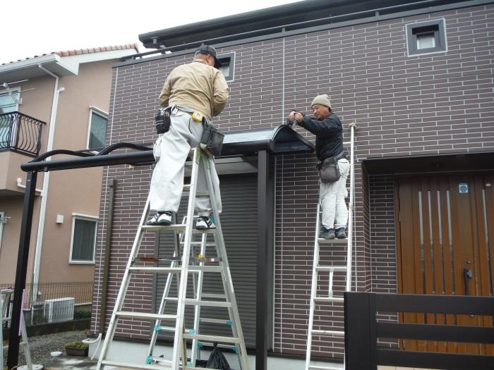 テラス屋根取替 ~ 新しいテラス屋根取付。_d0165368_02511110.jpg