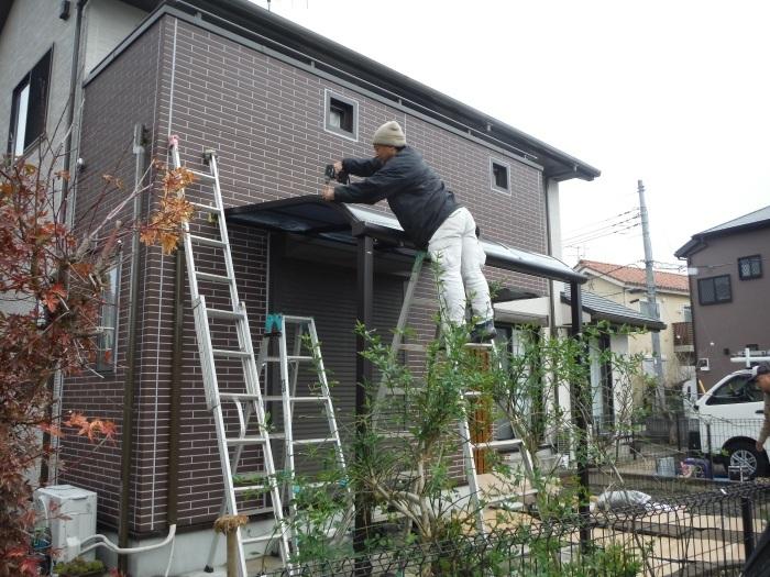 テラス屋根取替 ~ 新しいテラス屋根取付。_d0165368_02512301.jpg