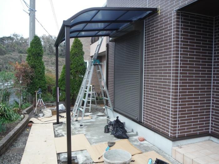 テラス屋根取替 ~ 新しいテラス屋根取付。_d0165368_02513306.jpg