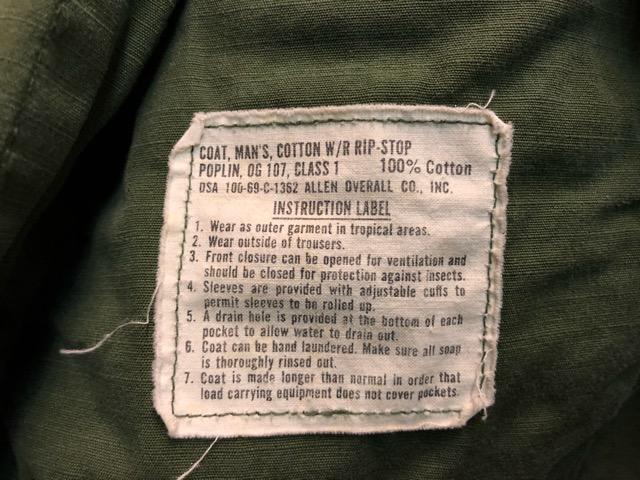 12月21日(土)大阪店スーペリア入荷!#1 Military Part1編!! M-65 FishtailParka & CWU-8/P, JungleFatigue, NOS1961Chino!!_c0078587_13272567.jpg
