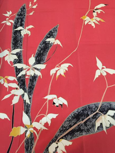 12/21は下北沢!「プチロマデパ」ピンク黒花付け下げ着物×紫陽花帯♪販売商品21_c0321302_14513154.jpg