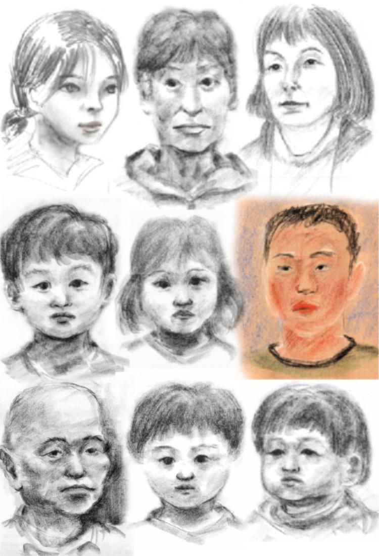 ミニ展示会での似顔絵会 その6 とにかくアップしていきます。 (掲載は順不同です)_a0037907_07195082.jpg