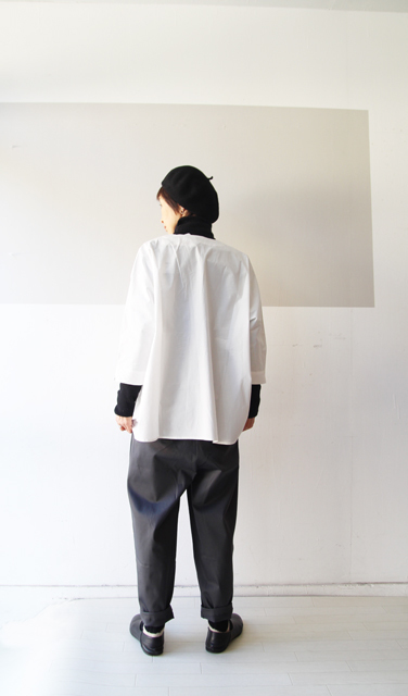 KEY NECK DROP SHOULDER SHIRT_f0215708_13325284.jpg