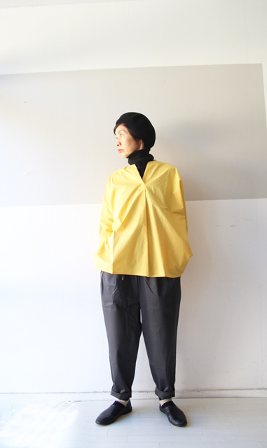 KEY NECK DROP SHOULDER SHIRT_f0215708_13325479.jpg